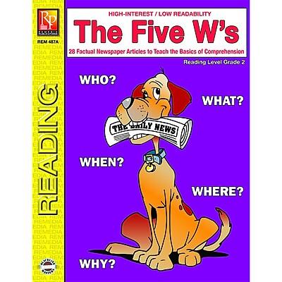 Remedia® The Five W's Book, Grades 4th - 12th