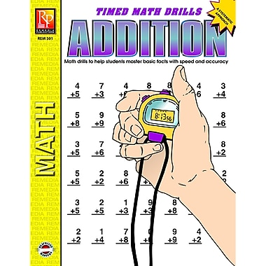 Remedia® Addition and Time Math Drill Book, Grades 3rd - 6th