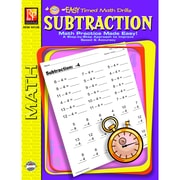 Remedia® Subtraction Easy Timed Math Drills Book, Grades 1st - 3rd