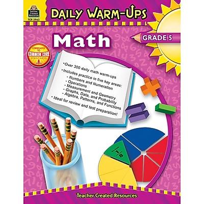 Teacher Created Resources Daily Warm-Ups: Math Resource Book, Grades 5