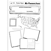 Milliken & Lorenz Educational Press® Poster Paper, My Favorite State