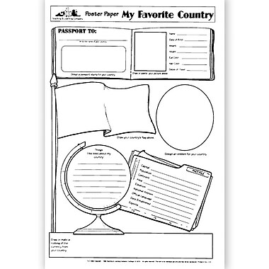Milliken & Lorenz Educational Press® Poster Paper, My Favorite Country