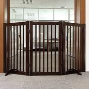 Welland Industries LLC Freestanding Wood  360  Configurable Pet Gate; Cherry