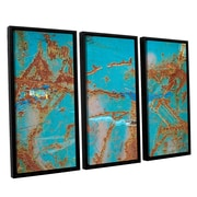 Longshore Tides 'Rusty Turquoise' 3 Piece Framed Photographic Print on Canvas Set