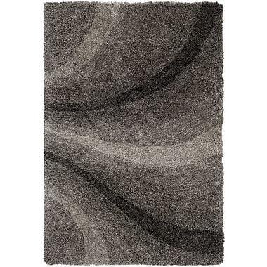 Orren Ellis Annie Hand-Tufted Black/Ivory Area Rug; 2' x 3'