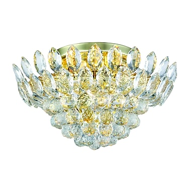 Rosdorf Park Glendora 5-Light Flush Mount; Gold