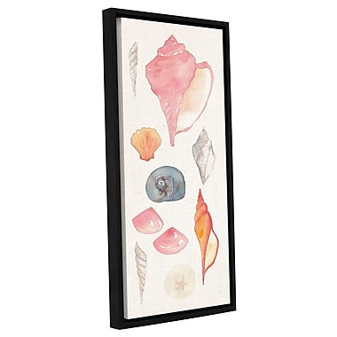 Highland Dunes 'Sea Gems I' Framed Painting Print on Wrapped Canvas; 36'' H x 18'' W x 2'' D