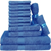 Latitude Run Blended 14 Piece Towel Set; French Blue