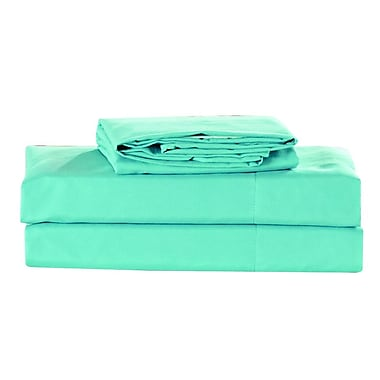 Latitude Run Elderton 4 Piece Sheet Set; Aqua Haze