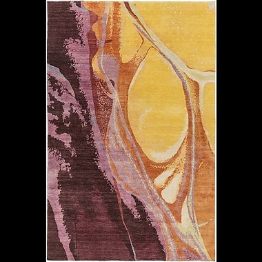 Orren Ellis Bender Gold/Burgundy Area Rug; 9' x 13'