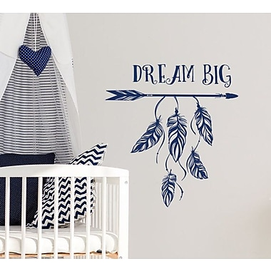 Decal House Dream Big Wall Decal; Navy Blue