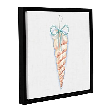 Highland Dunes 'Christmas on the Coast' Square Framed Painting Print on Wrapped Canvas in White