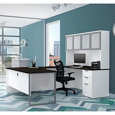 Latitude Run Hartleton U-Shape Corner Desk w/ Hutch; White