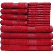 Latitude Run Blended 18 Piece Towel Set; Tango Red
