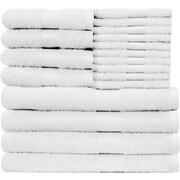 Latitude Run Blended 18 Piece Towel Set; White