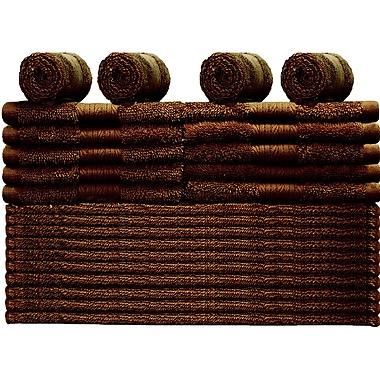 Latitude Run 24 Piece Towel Set; Rum Raisins