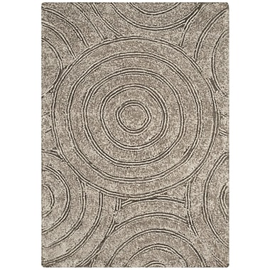 Latitude Run Swanson Silver Contemporary Rug; 3' x 5'