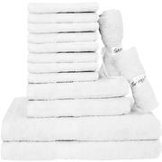 Latitude Run Blended 14 Piece Towel Set; White
