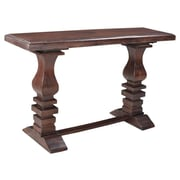Longshore Tides Maliyah Pedestal Console Table; Brown