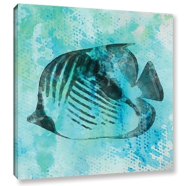 Bay Isle Home 'Fish Emperor' Print on Wrapped Canvas; 14'' H x 14'' W x 2'' D
