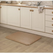 Darby Home Co Kipp Basket Weave Kitchen Mat; Mocha
