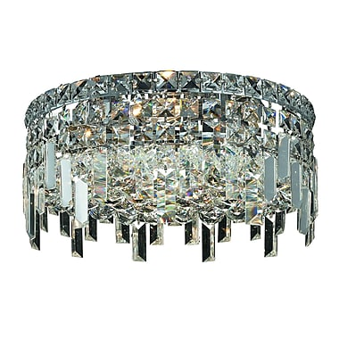 Rosdorf Park Bratton 4-Light Crystal Semi Flush Mount; 12'' / Strass Swarovski