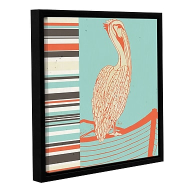 Bay Isle Home 'Pelican' Framed Painting Print on Wrapped Canvas; 36'' H x 36'' W x 2'' D