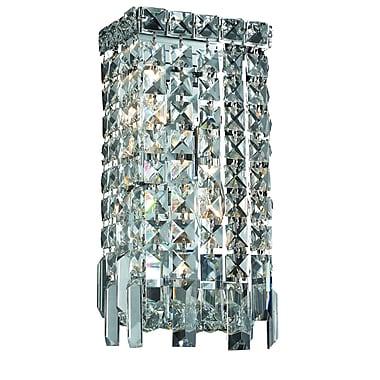 Rosdorf Park Bratton Contemporary 2-Light Wall Sconce; Strass Swarovski
