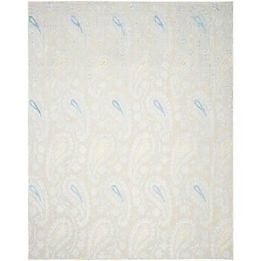 August Grove Erine Hand-Woven Light Blue/Beige Area Rug; 9' x 12'