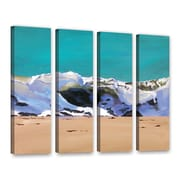 Highland Dunes 'Shore Break 1' 4 Piece Rectangle Painting Print on Wrapped Canvas Set
