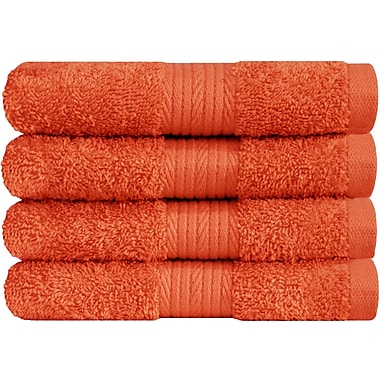 Latitude Run Solid Hand Towel (Set of 4); Fiesta