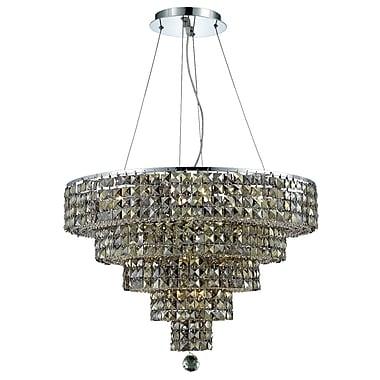 Rosdorf Park Bratton Contemporary 14-Light Crystal Chandelier; Crystal (Clear) / Royal Cut