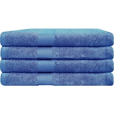 Latitude Run Bath Towel (Set of 4); French Blue