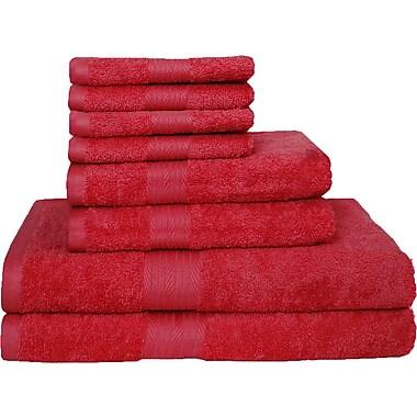 Latitude Run Blended 8 Piece Towel Set; Tango Red