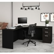 Latitude Run Hartleton Corner Desk; Black