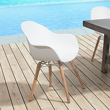 Orren Ellis Sona Dining Arm Chair (Set of 4); Red