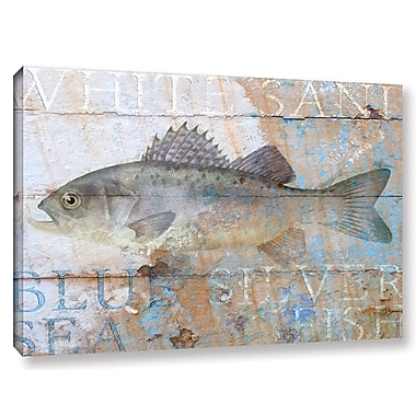 Breakwater Bay 'Fish on Wood 4' Graphic Art on Wrapped Canvas; 8'' H x 12'' W x 2'' D