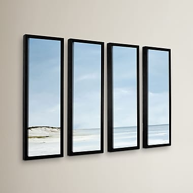 Highland Dunes 'Outer Reach' 4 Piece Framed Painting Print on Wrapped Canvas Set
