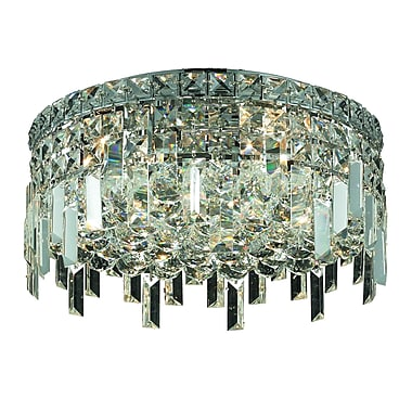 Rosdorf Park Bratton 5-Light 18'' Semi Flush Mount; Spectra Swarovski