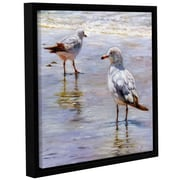Click here to buy Highland Dunes 'Waders' Framed Graphic Art Print on Canvas; 10 inch H x 10 inch....