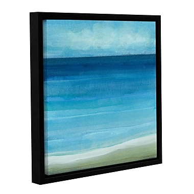 Highland Dunes 'Beach Life' Framed Painting Print on Wrapped Canvas; 14'' H x 14'' W
