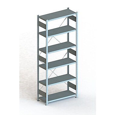 META Storage Solutions Inc. Clip S3 Basic Rack Shelving Unit; 98'' H x 36'' W x 16'' D