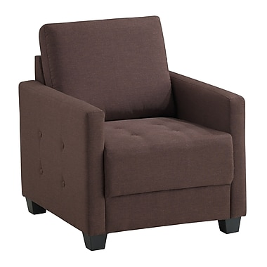 Ebern Designs Edinburg Armchair; Brown