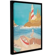 Breakwater Bay 'Pelican And Light House' Framed Painting Print on Wrapped Canvas