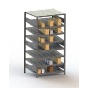 META Storage Solutions Inc. Clip S3 Gravity Fed Rack Basic Shelving Unit; 79'' H x 36'' W x 20'' D
