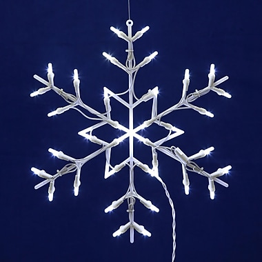The Holiday Aisle 35Lt. Window Decor 35Lt LED Snowflake Window D cor