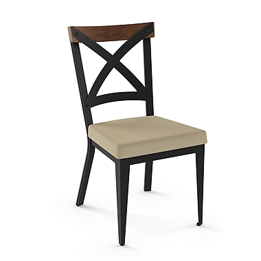 Union Rustic Esmund Solid Wood Dining Chair; Beige/Brown