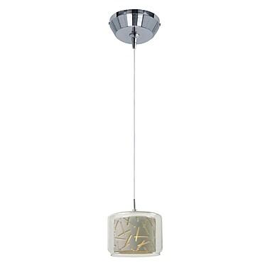 Orren Ellis Hephaestus Modern 1-Light Pendant and Canopy; White