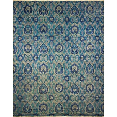 Bloomsbury Market Harkness Hand-Knotted Wool Blue/Gray Area Rug