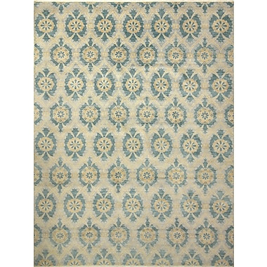 Bloomsbury Market Harkness Transitional Hand-Knotted Wool Gray Area Rug
